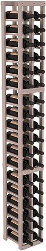 Wine Racks America Redwood 2 Column Wine Cellar Kit. Grey Wash Stain Satin Finish