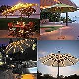 Solar Patio Umbrella Lights Cordless Parasol String
