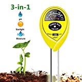 WINZOOM Soil Tester,Soil Moisture Meter,3-in-1 Soil Test Kit with Moisture,Light and PH Test,Great for Garden, Lawn, Farm, Indoor & Outdoor Use