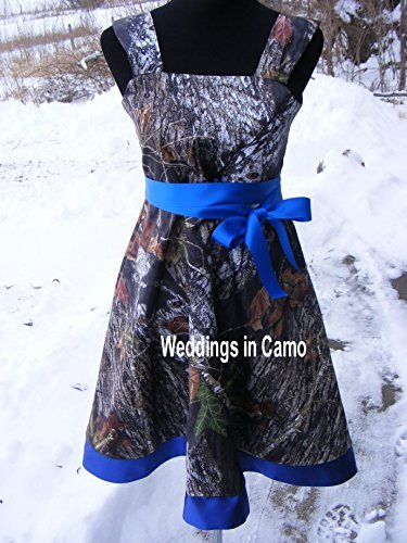558d5811e74 Amazon.com  MUDDY GIRL flower girl or girls camo dress  Handmade