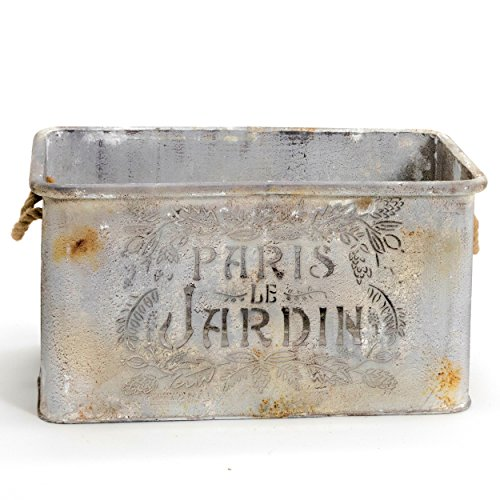 Cheap  The French Country Style Jardin, Rustic Cache Pot, Rectangle Planter, Galvanized Metal,..