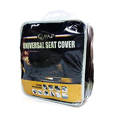 Copap 8pcs Car Seat Covers Black & Red Universal Fit for Trucks, SUVS & Vans w/Storage Bag Airbag Compatible Detachable Headrest (Black & Red): Automotive