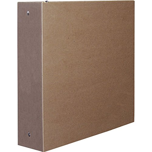 Aurora 2-Inch Capacity Three Ring Brown Kraft Recycled Binder (Cardboard 3 Ring Binder)