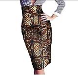 SportsX Women's Wrap Floral OL Africa Batik High Accept Waist Bodycon Skirt 10 5XL