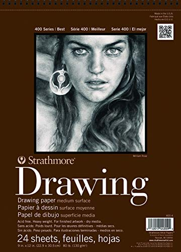 Strathmore (400-5) STR-400-5 24 Sheet No.80 Drawing Pad, 11 by 14