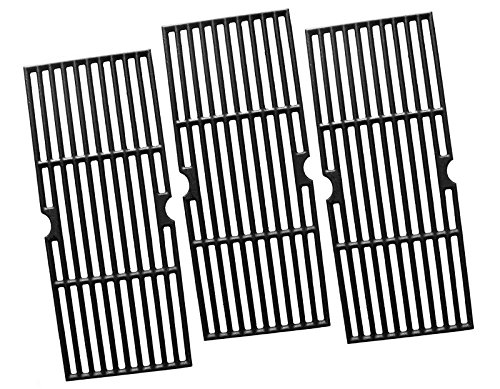 Vicool HyG876C Cast Iron Cooking Grid Replacement for Select Gas Grill Models by Charbroil, Kenmore and Others, Set of 3 (Replacement Grates Bbq)