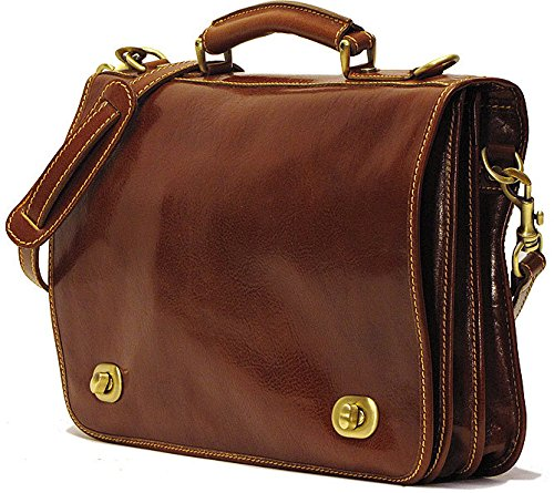 Floto Luggage Roma Messenger Bag, Brown, One Size by Floto