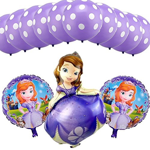 Disney Princess Party Balloons 13 Pieces (Sofia The First)]()