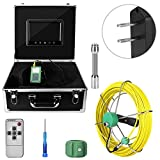 9 inch 1000 Pipe Inspection Video Camera Underwater Drain Pipe Inspection,Drain Sewer Industrial Endoscope (US)