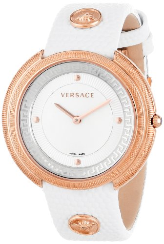 Versace Women's VA7030013 Thea Round Stainless Steel Mother-Of-Pearl Dial Watch