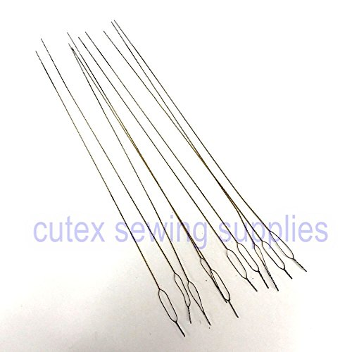 Cutex (TM) Brand Pack of 12 Overlock Serger Looper & Needle Threading Wires / (Looper Threader)