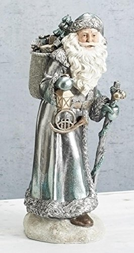 """Roman 16"""" Happy Holidays Vintage Silver Gilded Old World ..."""