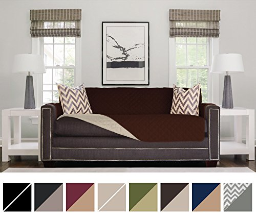 Sofa Shield Original Reversible Couch Slipcover Furniture Protector, Seat Width Up to 78