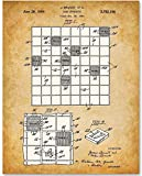 Scrabble Board Game - 11x14 Unframed Patent Print - Great Gift for Game Room Decor