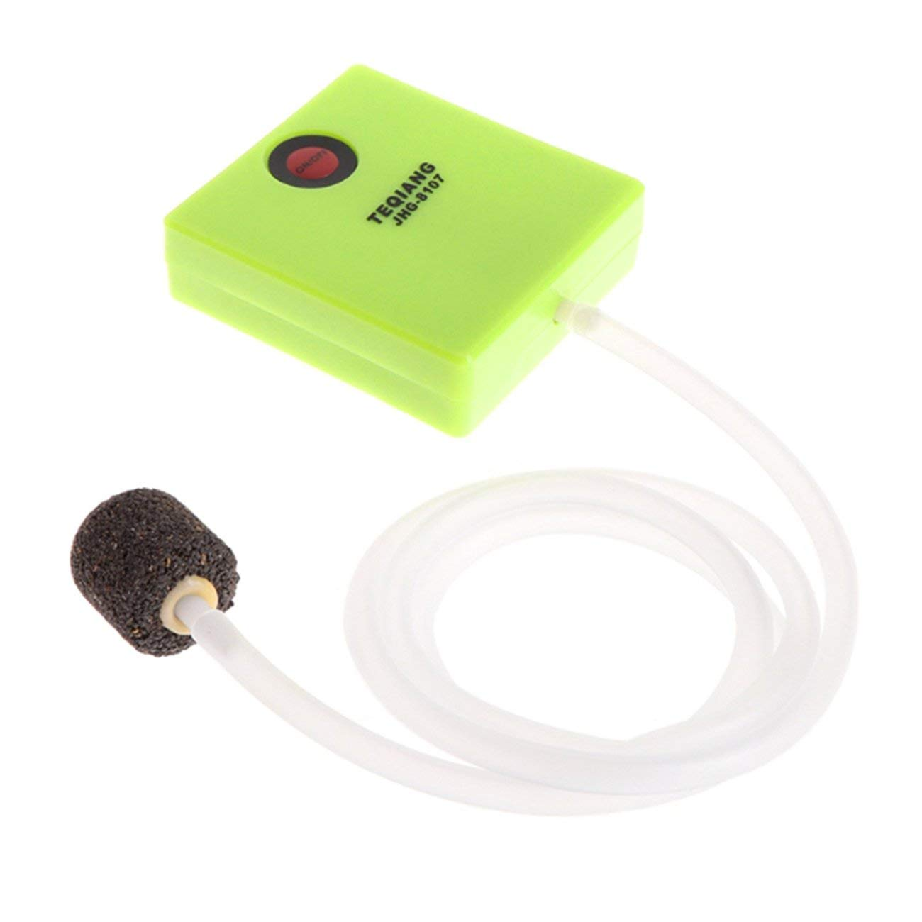 Green Outdoor Mini Ultra Silent Aquarium Air Pump Single Outlet Dry Cell Battery Operated Fish Tank Oxygen Pump Device