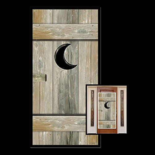 Outhouse Costume (Funny OUTHOUSE Bathroom Door Cover Western Toilet Over-the-Hill Party)