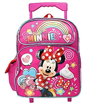 4656ba4b0fd Image Unavailable. Image not available for. Color  Disney Minnie Mouse  12 quot  Toddler Mini Rolling Backpack