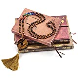JOVIVI 6mm Semi-Precious Gemstones 108 Buddhist Prayer Beads 7 Chakra Multilayer Mala Beads Donut Tassel Bracelet Necklace