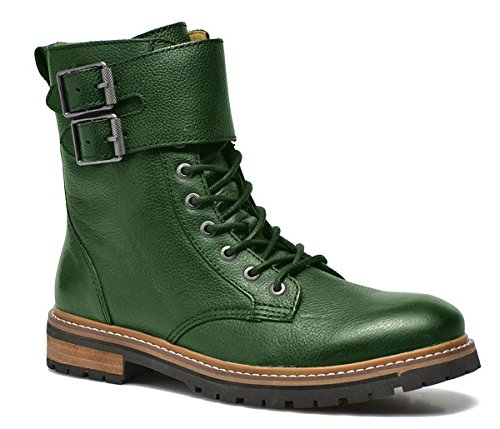 Chaussures 11sunshop Bottes En Cuir Modèle Marley Design Hgilliane En Vert 33-46