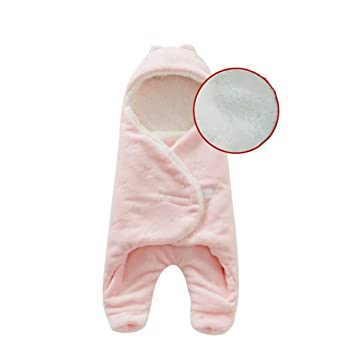b0547128ed Amazon.com  Baby Blanket Envelope Swaddle Winter Wrap Coral Fleece Newborn  Blanket Sleeper Infant Stroller Wrap Toddlers Baby Sleeping Bag  Baby