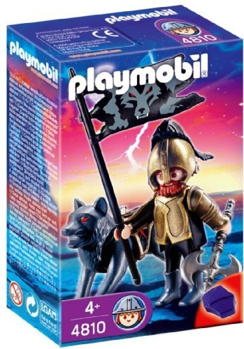 Warrior with a Playmobil playmobil wolf Knights ax 4810