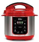 Elite Platinum EPC-414R Maxi-Matic 4 Quart Electric Pressure Cooker, Red (Stainless Steel)