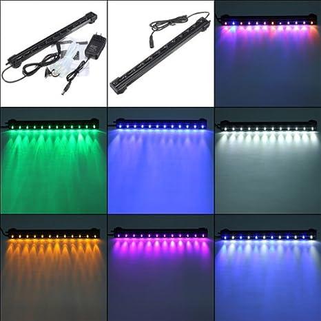 Bheema De alta calidad de 12 LED a prueba de agua del acuario Light Bar Aire lámpara de la burbuja - Purple: Amazon.es: Productos para mascotas