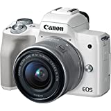 Canon EOS M50 Wi-Fi Digital ILC Camera & EF-M 15-45mm is STM Lens (White)