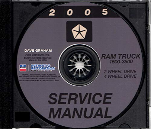 2005 DODGE RAM TRUCK PICKUP REPAIR SHOP & SERVICE MANUAL CD For 1500, 2500, 3500