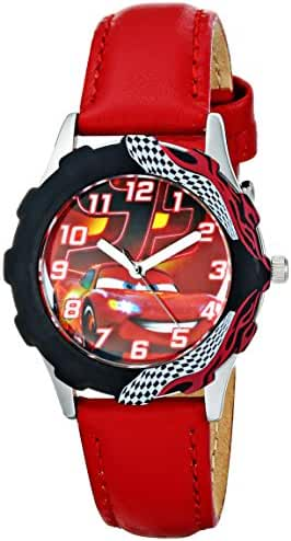 Disney Kids' W001589 Tween Cars Lightning McQueen Stainless Steel Watch