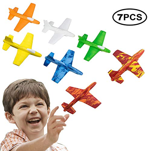 US Sense Flying Glider Plane Set of 7, Flying Toys Gifts for Boys and Girls, Indoor and Outdoor Game ()