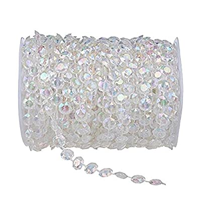 KUPOO Clear Crystal Like Beads by the roll - Wedding Decorations