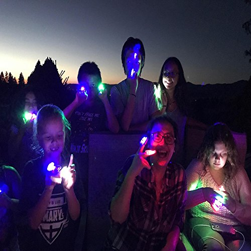 Novelty Place LED Finger Lights 40 Pack Bright Party Favors Party Supplies for Holiday Light up Toys Assorted Color