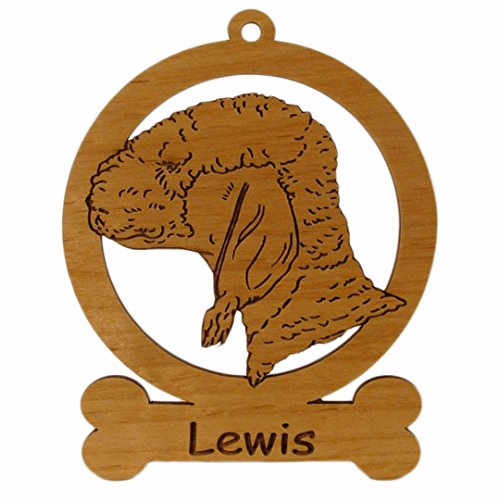 Bedlington Terrier Ornament 081584 Personalized With Your Dog's Name ()