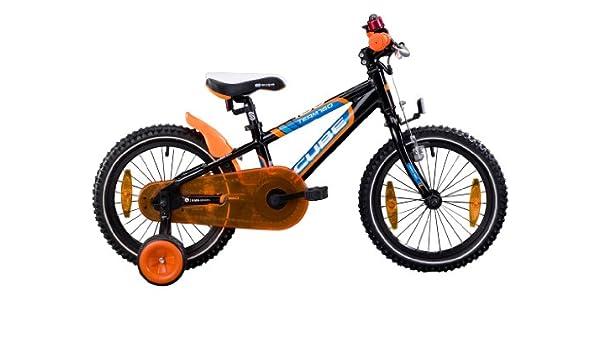 Cube - Bicicleta infantil (con cesta, 16