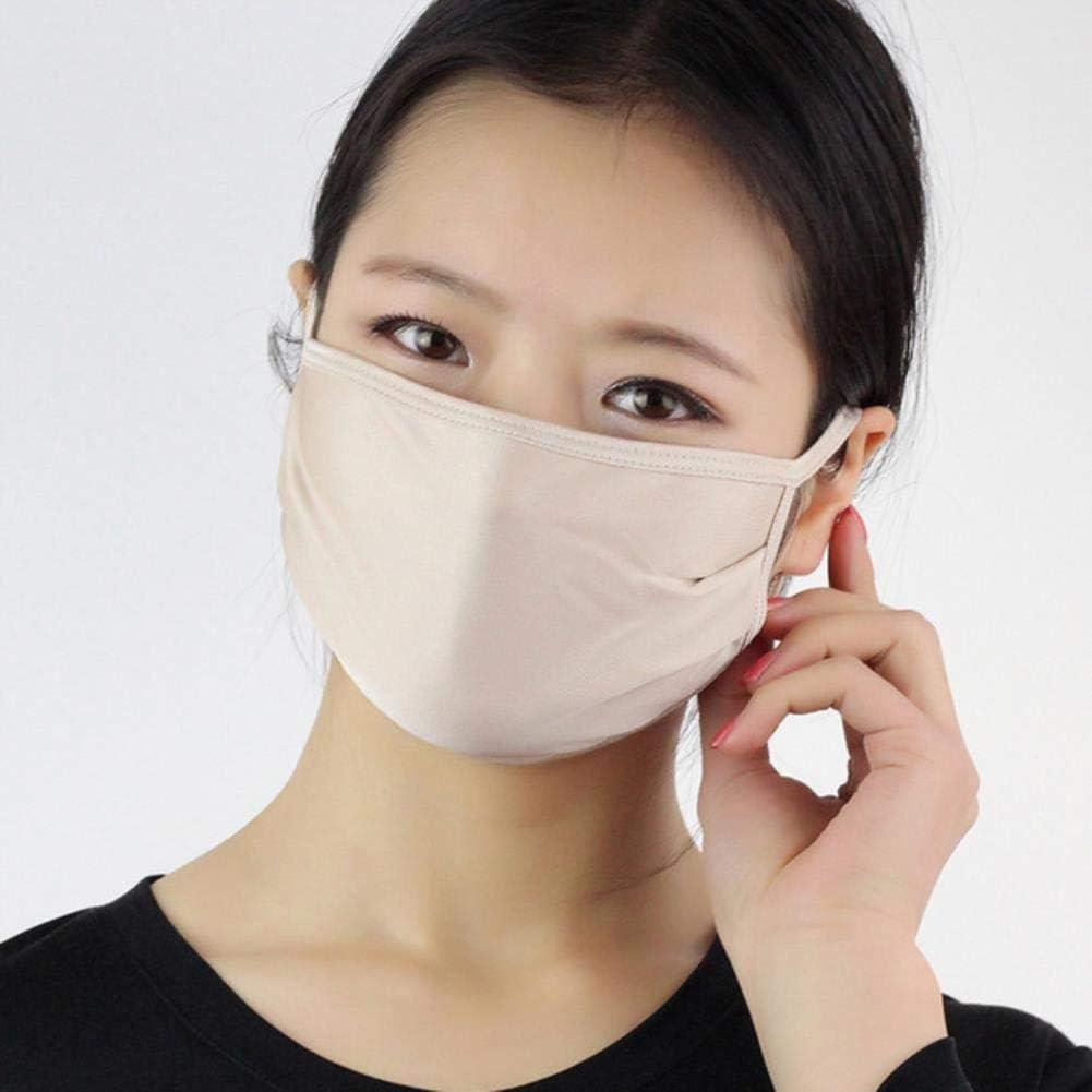 MDLJY Mascara Protección Solar Unisex Máscaras de Seda Protección Antipolvo Boca Antipolvo Máscaras faciales Color sólido Protección contra el Smog Máscaras repetibles
