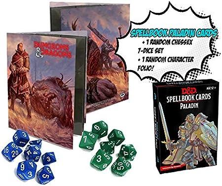 Dungeons & Dragons Paladin Spellbook Card Incluye un Libro de Caracteres D & D al Azar y Chessex al Azar, Juego de 7 Dados. Paquete D & D.: Amazon.es: Juguetes y juegos