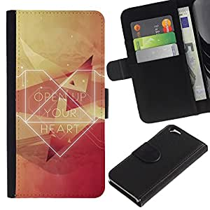 KingStore / Leather Etui en cuir / Apple Iphone 6 / Abre tu Corazón del inconformista