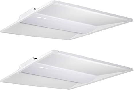 Hykolity Architectural Led Troffer 2x2 Ft 36w 4500lm 5000k 0 10v Dimmable Led Volumetric Troffer Drop Ceiling Panel Light Eligible For Rebate