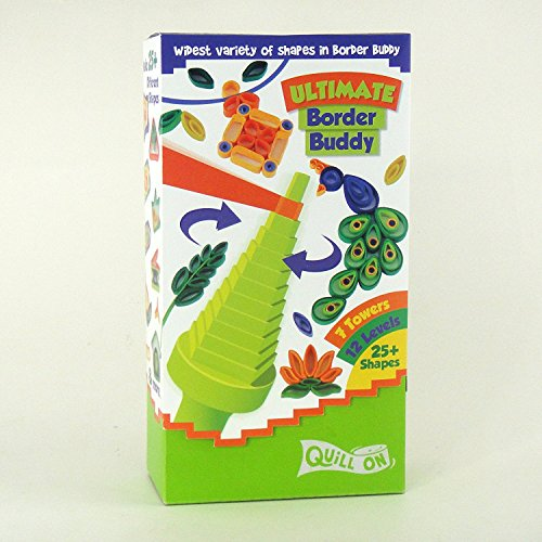 Ultimate Quilling Kit-Motorized Multifunction Quilling Tool - Super Quiller; Includes Border Buddy, Quilling Board, Quilling Strips and Quilling Mould - A Super Fun Creative Kit and Great Gift