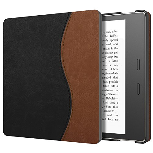 MoKo Case for All-New Kindle Oasis (9th Generation, 2017 Release) - Slim Fit Premium PU Leather Protective Cover with Auto Wake/Sleep for Amazon Kindle Oasis E-Reader Case, Dual Color