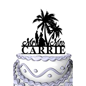 51m2ADb9JkL._SS300_ Beach Wedding Cake Toppers & Nautical Cake Toppers