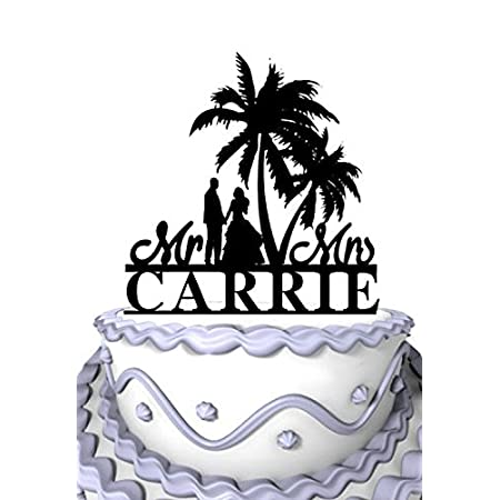 51m2ADb9JkL._SS450_ The Best Palm Tree Wedding Cake Toppers