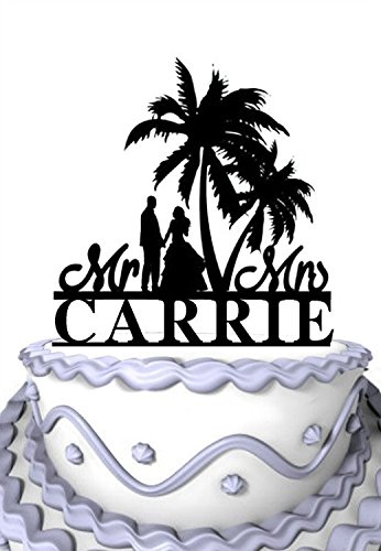 51m2ADb9JkL The Best Palm Tree Wedding Cake Toppers