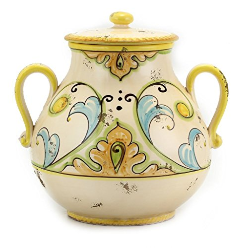 Diana: Urn with lid and Double Handles (Urns Italian Pottery Deruta)