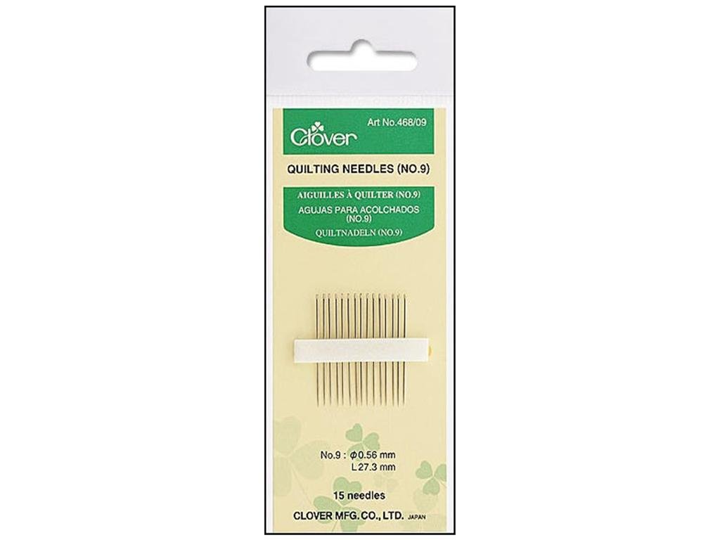 Clover #9 Between Quilting Needles 15pk 468/09