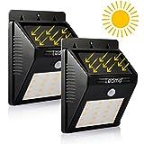 LEDMO 20 LEDs Outdoor Motion Sensor Automatic Solar Light, 2 Pack Super Bright Waterproof Warm White Solar Light For Driveway ,Garden,yard,