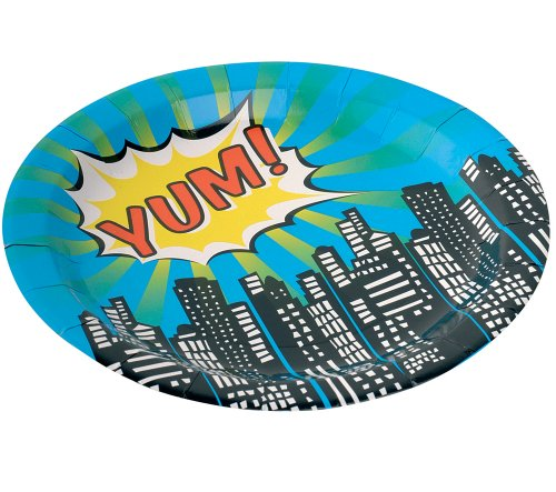 Superhero Party Plates
