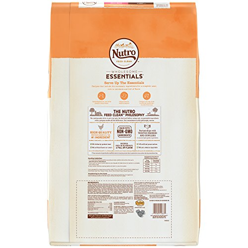 NUTRO WHOLESOME ESSENTIALS Natural Adult Small Breed Dry Dog Food Farm-Raised Chicken, Brown Rice & Sweet Potato Recipe, 15 lb. Bag