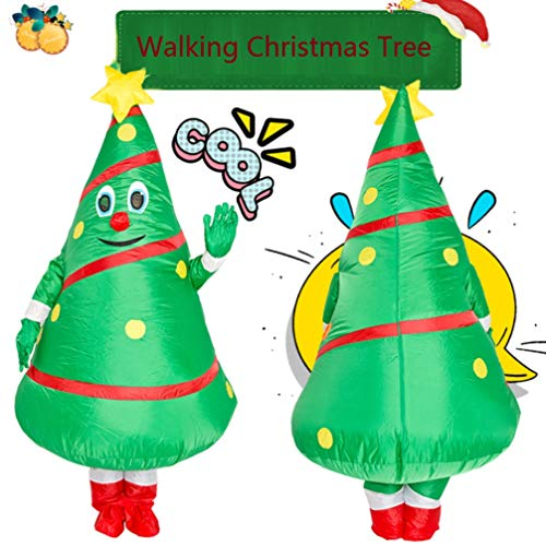 Cysudo Unisex Adult Christmas Tree Costume Cosplay Inflatable Funny Festive Suit Green, Large - http://coolthings.us